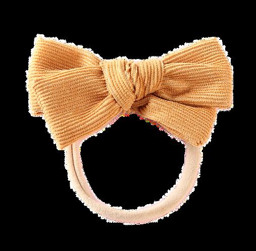 Mustard Corduroy Bow Headband