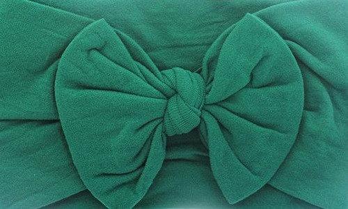 Forrest Green Bow Headband