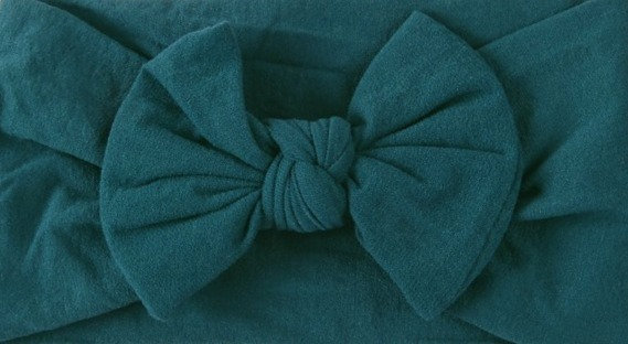 Teal Bow Headband