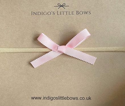 Pink Ribbon Dainty Bow Headband