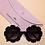 Thumbnail: Black Daisy Sunglass - With Case