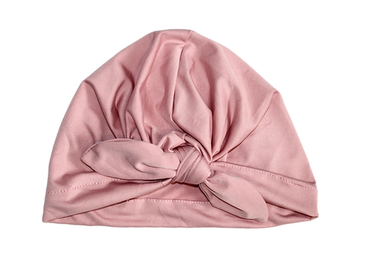 Dusty Pink Bow Knot Turban