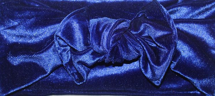 Royal Blue Velvet Bow Headband