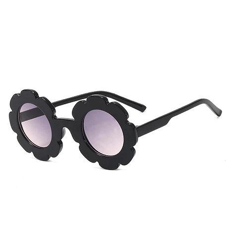 Black Daisy Sunglass - With Case