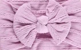 Dusty Purple Cable Knit Bow Headband