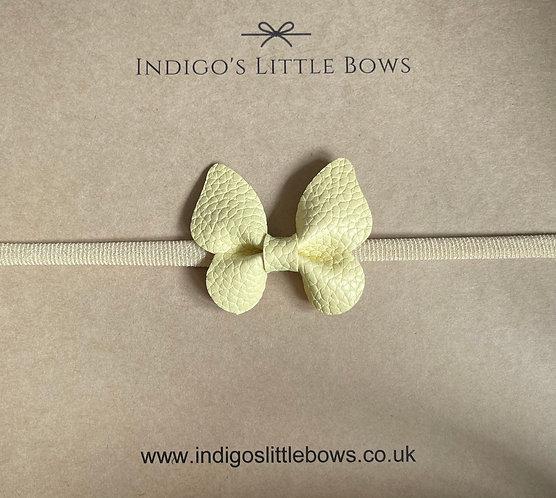 Lemon Butterfly Dainty Headband