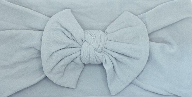 Dusty Grey Bow Headband