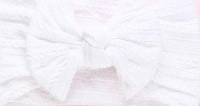 White Cable Knit Bow Headband