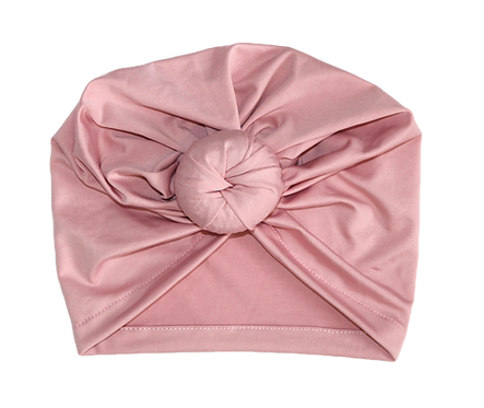 Dusty Pink Donut Turban