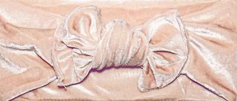Cream Velvet Bow Headband