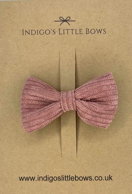 Grape Velvet Knit Bow Clip