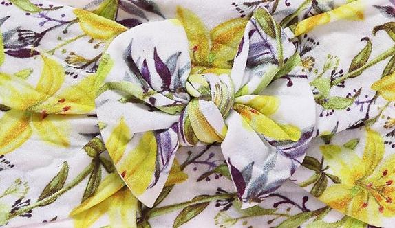 Yellow Floral Bow Headband