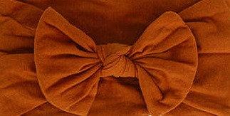 Burnt Orange Bow Headband