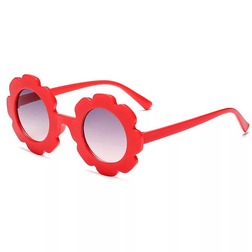 Red Daisy Sunglass - With Case