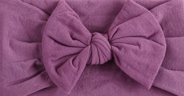 Violet Bow Headband