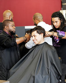 Hollywood Institute Barber Students