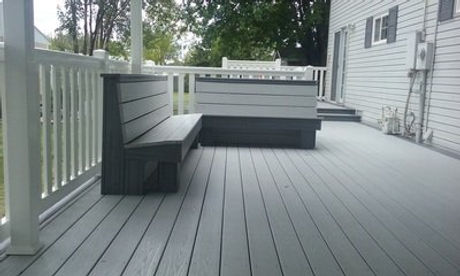 Deck & 4 ft t-rail with matching benches (made from decking).jpg