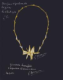 Georges Braque Alcyone Necklace gouache.