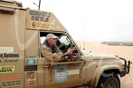 Doctor Flip Stander driving his all-terrain vehicle has been crisscrossing the Namib Desert for many years ... The existence and survival of these Lions largely depends on their dedication to the species