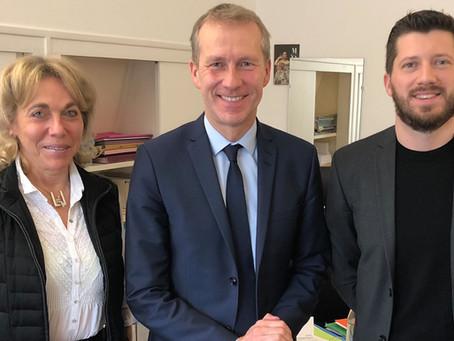 Les fondateurs de Framheim rencontrent Guillaume Garot, le « député anti-gaspi »