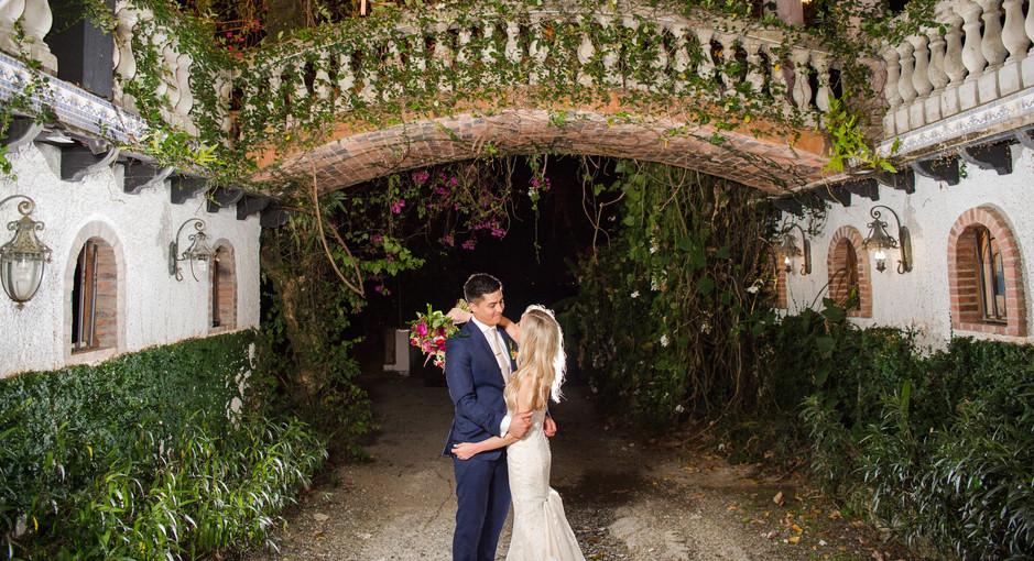 Destination wedding at hacienda