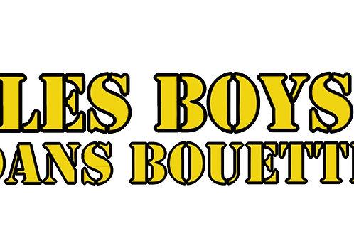 Stickers Les Boys dans Bouette GRAND FORMAT