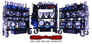 Light Carts: ARRI, Tungsten, HMIs
