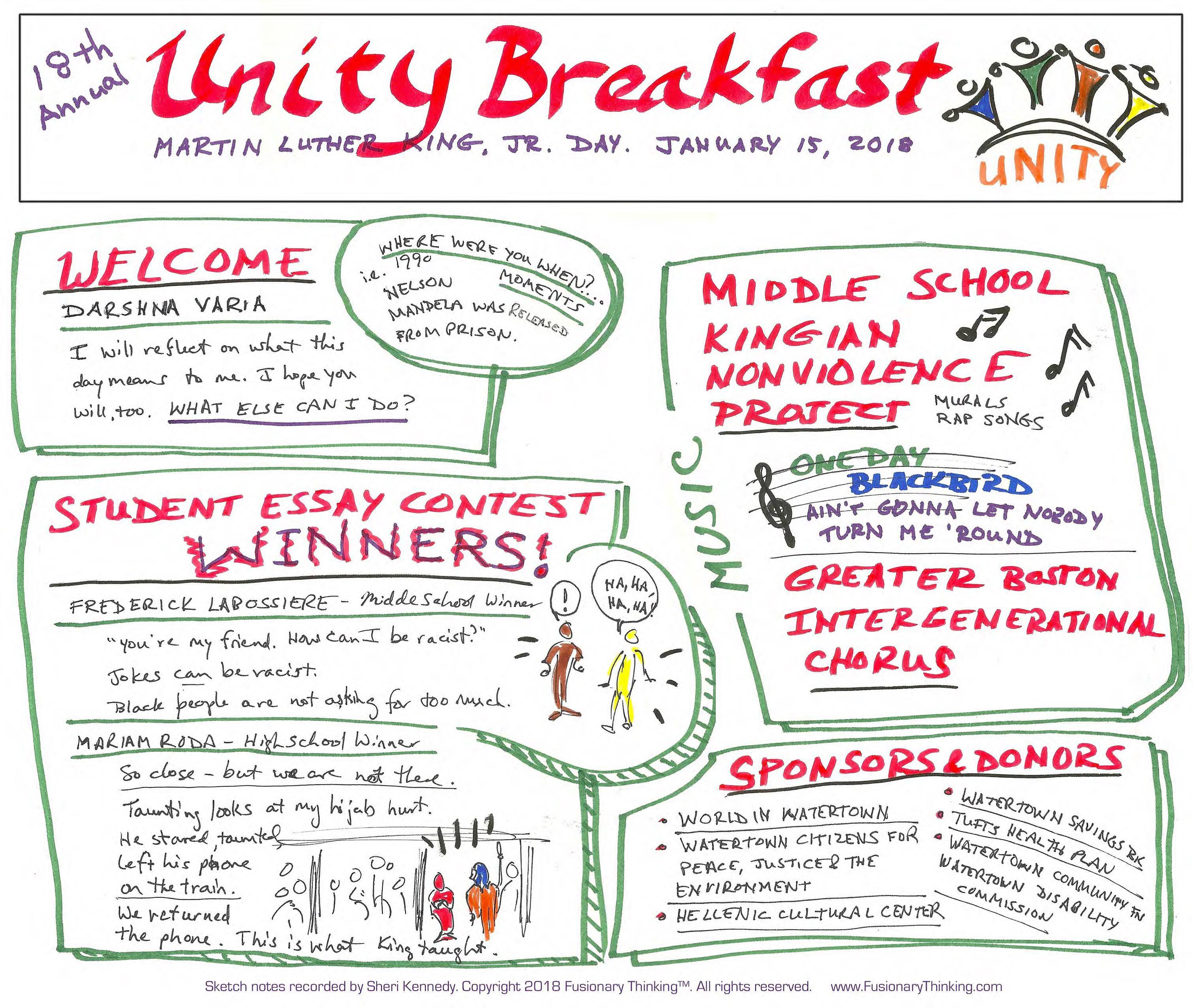 Annual Unity Breakfast | World in Watertown