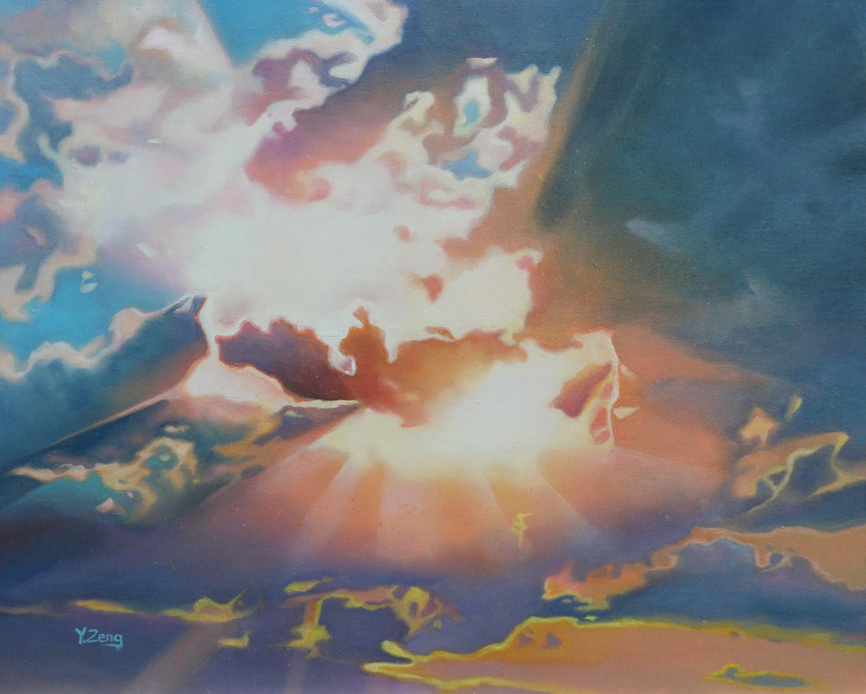 Sunbeam through clouds