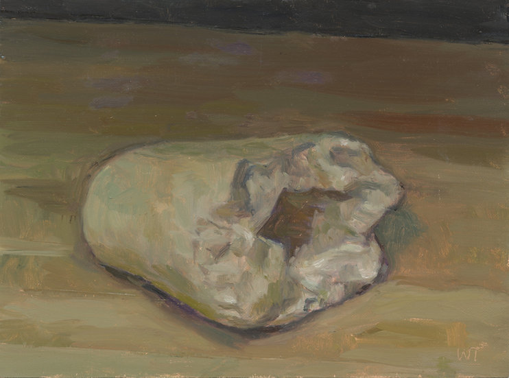 Trixie's Favourite Bone, Oil on Panel,24 x 18 cm