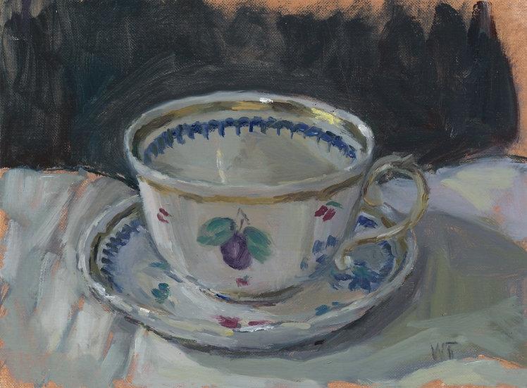 Richard Ginori Italian Fruits Tea Cup, Oil on Panel 24 x 18 cm