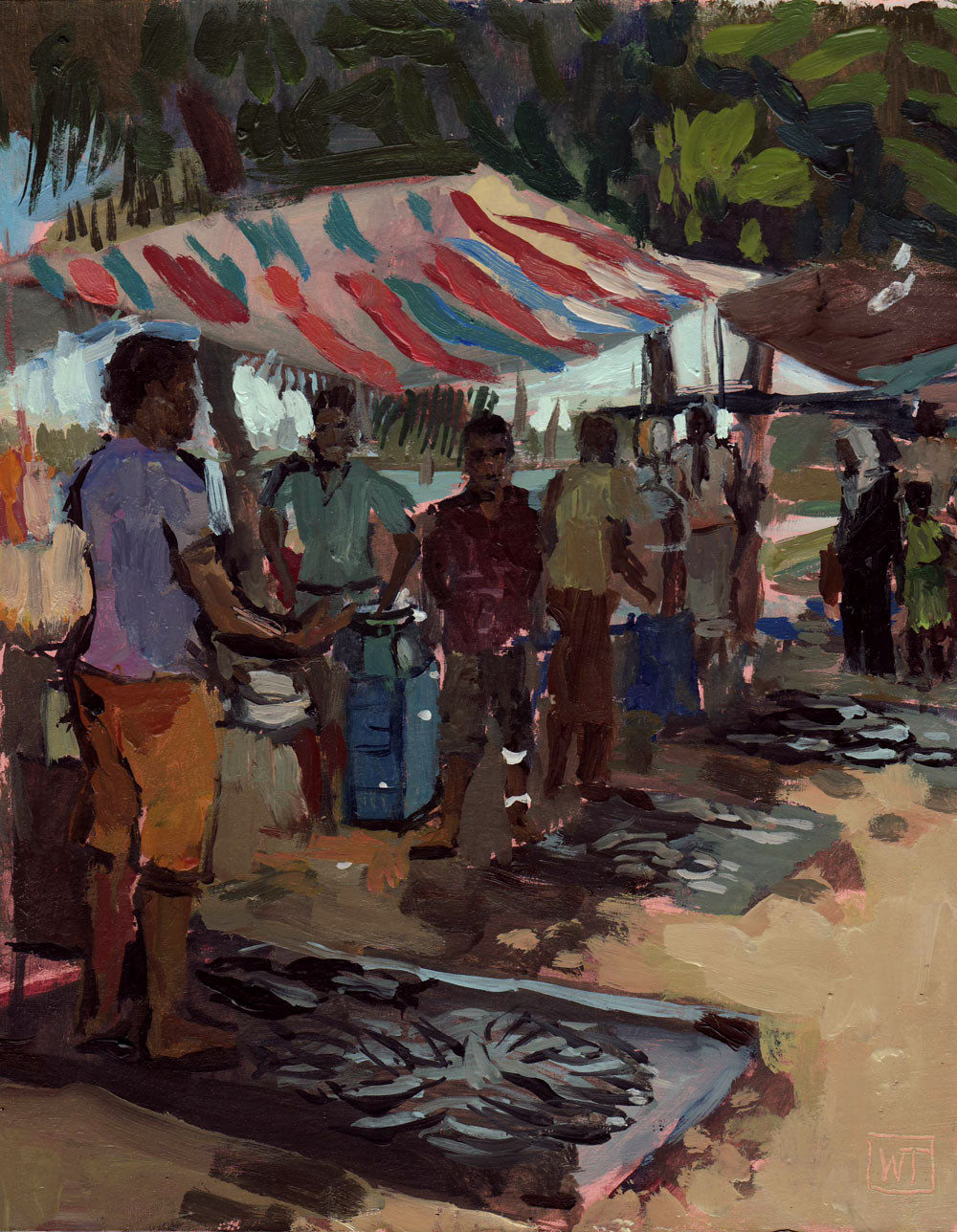 The fish market in Galle
