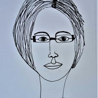 Continuous line self portrait