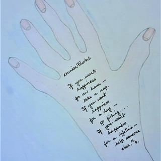 Covid hand of wisdom