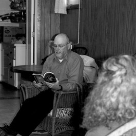 Reading and Signing at the Barton Library (2012)
