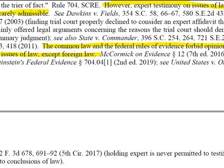 Expert Testimony on Law?