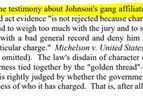 Prior Bad Act and Gang Evidence