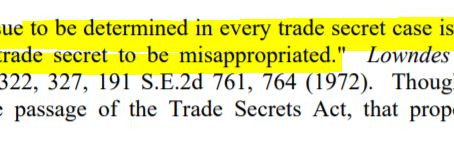 Was it a Trade Secret?