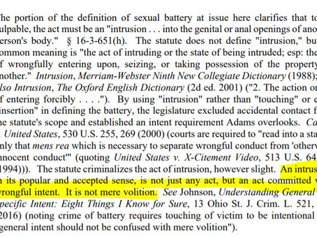 "Is jury instruction on ""criminal intent as element of crime"" needed?"