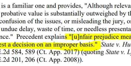 """More definitions of """"unfair prejudice"""" under 403"""