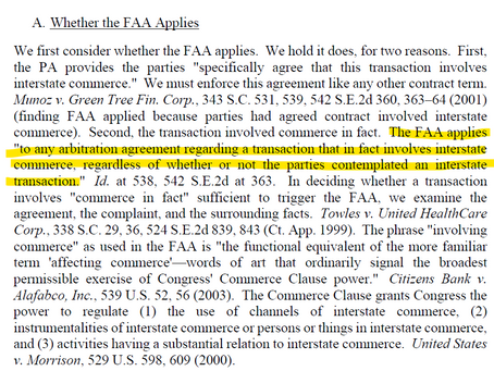 Does the FAA Apply?