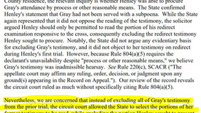 804(b)(1): How much of the former testimony comes in? Some? All?