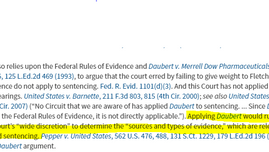 """FRE 1101: """"wide discretion"""" for sentencing judge"""