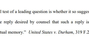 What is a leading question? Federal Rule of Evidence 611(c)