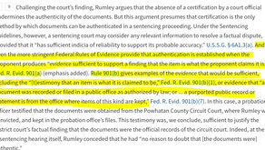 4th Circuit: Certification not the only way to authenticate document ... FRE 901