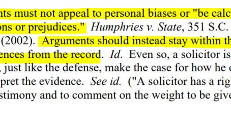 Closing Arguments Standard