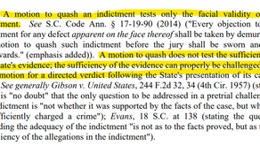 Procedure for Motion to Quash Indictment