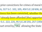 SCRE 609: Explaining Convictions to Jury?