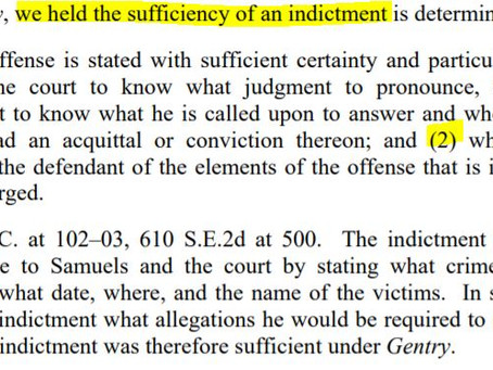 Sufficiency of an Indictment
