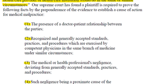 Medical Malpractice Elements